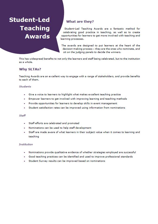 Student-Led Teaching Awards
