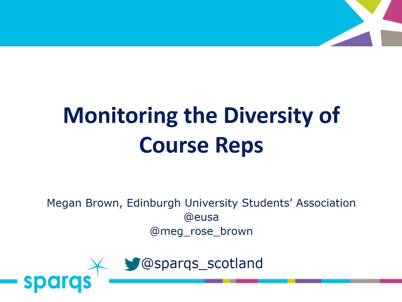 Monitoring the Diversity of Course Reps